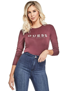 GUESS top Lottie Crystal Logo Top bordový