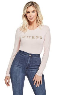 GUESS top Lottie Crystal Logo Top ružový